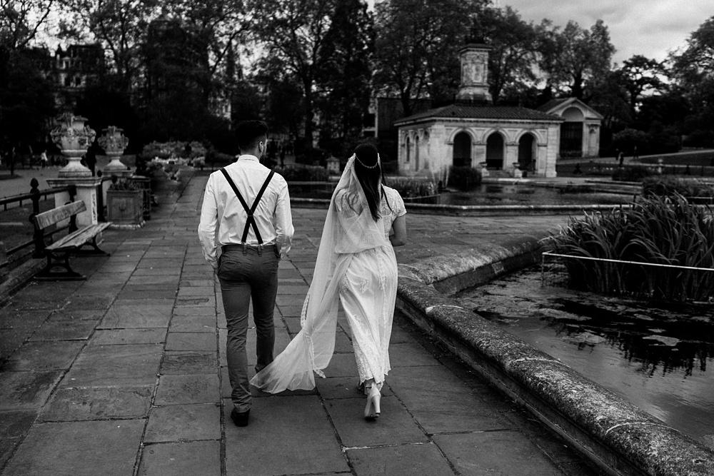 Hyde park London elopement