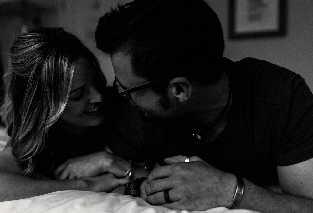 In home couple session // Winchester